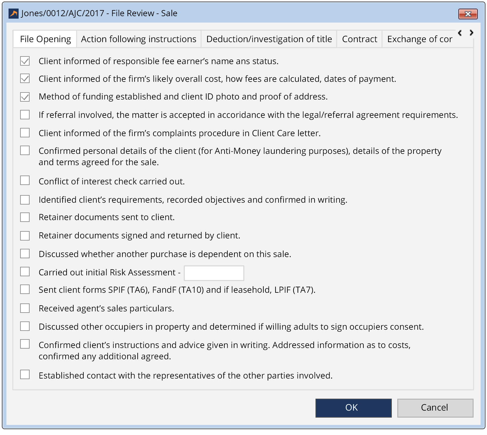 Conveyancing Software Matter Type - LEAP Legal Software